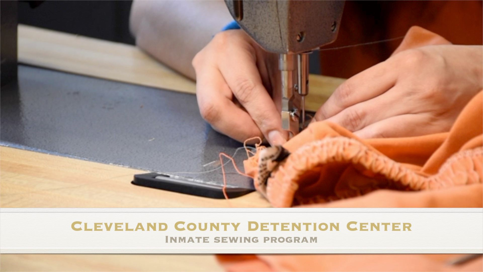Jail sewing program