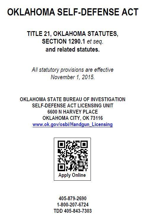 OK SDA Statutes
